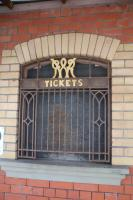 Lovely wrought iron work of the old Barry Island ticket office, still in place in 2018.<br><br>[Alastair McLellan&nbsp;19/03/2018]