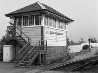 Banavie signal box, later replaced by an RETB control centre built in sympathetic style.<br><br>[Bill Roberton&nbsp;//1985]