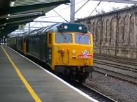 'The Caledonian' double hauled by Class 50s at Carlisle in October 2017.<br><br>[Michael Gibb&nbsp;10/10/2017]