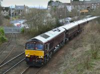 66743 passes Inverkeithing South Junction with the Royal Scotsman from Edinburgh to Keith on 16 April.<br><br>[Bill Roberton&nbsp;16/04/2018]