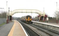 A Glasgow Central service arrives at Auchinleck station in March 2006.<br><br>[John Furnevel&nbsp;13/03/2006]