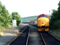 37 at Rhymney, looking south from the foot level crossing.<br><br>[Ewan Crawford&nbsp;21/06/2003]