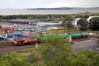 Oil train about to depart from Millburn Yard, Inverness, for Lairg.<br><br>[Ewan Crawford&nbsp;//]