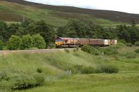 Near Lairg Summit a Safeway train heads south.<br><br>[Ewan Crawford&nbsp;//]