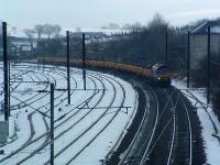 Approaching Ferryhill Junction (NE England) from the south.<br><br>[Ewan Crawford&nbsp;29/02/2004]