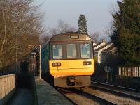 Eastbound Pacer crosses the Wetherall Viaduct.<br><br>[Ewan Crawford&nbsp;//]