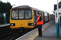 Harrogate-York service at Hammerton. Start of double section after single.<br><br>[Ewan Crawford&nbsp;//]