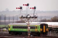Passing the fine semaphores of Wrawby Junction.<br><br>[Ewan Crawford&nbsp;//]