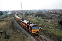 Passing east through Scunthorpe Old station and the now closed and lifted marshalling yard.<br><br>[Ewan Crawford&nbsp;//]