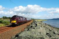 The <i>Royal Scotsman</i> approaching Cardross from the east.<br><br>[Ewan Crawford&nbsp;//]