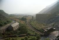 Site of the original Blaenau Ffestinoig station before the LNWR extended into the town.<br><br>[Ewan Crawford&nbsp;//]