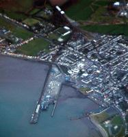 Aerial view of Stranraer Harbour with the closed Stranraer Town at top centre.<br><br>[Ewan Crawford&nbsp;//]