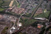 Aerial view of the junctions to the south of Mossend Yard looking west. Note the Freightliner on the north to east curve.<br><br>[Ewan Crawford&nbsp;//]