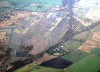 Aerial view of the former Gartcosh Steelworks. Gartcosh Junction centre and future site of station bottom left.<br><br>[Ewan Crawford&nbsp;//]