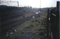 Looking west where the Renfrew line met and then ran parallel to the mainline at Paisley. In the V of the junction was Greenlaw Goods.<br><br>[Ewan Crawford&nbsp;//]