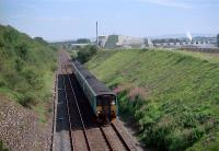 Northbound at New Biggin. British Gypsum works behind.<br><br>[Ewan Crawford&nbsp;//]