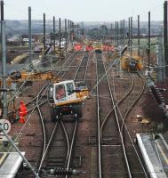 Looking east at Drem Junction during track repairs.<br><br>[Ewan Crawford&nbsp;//]