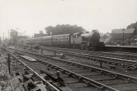 Newcastle stopping train at Haltwhistle. V.1. 2.6.2.T 67636.<br><br>[G H Robin collection by courtesy of the Mitchell Library, Glasgow&nbsp;25/06/1952]