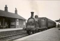 Arbroath-Forfar local. C.R. 15195 at Guthrie Junction.<br><br>[G H Robin collection by courtesy of the Mitchell Library, Glasgow&nbsp;02/05/1949]