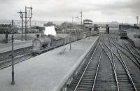 North bound freight passing Law Junction. CR 812 0.6.0 57583.<br><br>[G H Robin collection by courtesy of the Mitchell Library, Glasgow&nbsp;04/06/1949]