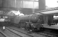 V2 60913 ready to leave Carlisle on 1 February 1964 having recently taken over the 9.25am Crewe - Perth.<br><br>[K A Gray&nbsp;01/02/1964]