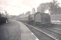 Local train at Paisley West station on 11 August 1949. Locomotive is class 2 4-4-0 no 40620.<br><br>[G H Robin collection by courtesy of the Mitchell Library, Glasgow&nbsp;11/08/1949]