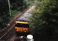 303 heading for Neilston having left Cathcart. This was the site of the junction on the Lanarkshire and Ayrshire Railway between the line to Glasgow Central and line to Newton.<br><br>[Ewan Crawford //]