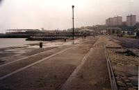 Greenock Harbour. Greenock Central is to the right and the quayside was reached via a ramp down from the station.<br><br>[Ewan Crawford&nbsp;//]