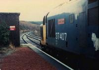 37407 waits for the northbound sleeper at Tulloch. Very early morning.<br><br>[Ewan Crawford&nbsp;//]