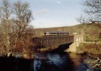 Southbound over the Oykel Viaduct on the approach to Culrain from Invershin.<br><br>[Ewan Crawford&nbsp;//]