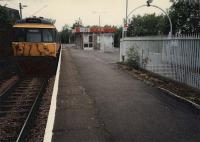 Langside station with Newton bound train.<br><br>[Ewan Crawford&nbsp;//]