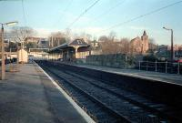 Milngavie of a frosty morning. The low wall on the right is all that remains of the locomotive shed.<br><br>[Ewan Crawford&nbsp;//]