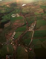 Aerial view of Lugton. Left Lugton (GBKJR) and right Lugton East (L&AR).<br><br>[Ewan Crawford&nbsp;//]