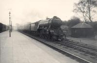 A3 4.6.2 60035 Windsor Lad entering St Boswells on down express.<br><br>[G H Robin collection by courtesy of the Mitchell Library, Glasgow&nbsp;07/04/1950]
