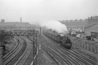 73060 approaches Strathbungo from St Enoch.<br><br>[John Robin&nbsp;17/07/1964]