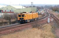 Rail grinding machine approaching Niddrie West Junction in April 2006 from the Niddrie South direction.<br><br>[John Furnevel&nbsp;16/04/2006]