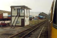Kirkby Stephen viewed from behind a 47 hauled train diverted from the WCML. Before the line was reprieved.<br><br>[Ewan Crawford&nbsp;25/03/1989]