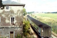 Passing the (?) never opened station at Denmarkfield.<br><br>[Ewan Crawford&nbsp;//]