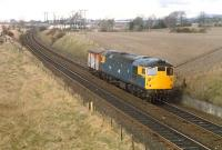 Approaching Rosyth Halt from the north is a 26 and a single wagon. From Charlestown?<br><br>[Ewan Crawford&nbsp;//]
