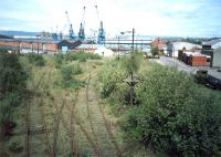 The approach to the King George V Dock from Shieldhall Yard.<br><br>[Ewan Crawford&nbsp;//1987]