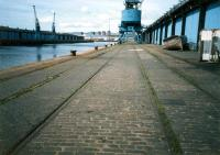 Rails by the Quayside at the King George V Dock.<br><br>[Ewan Crawford&nbsp;//1987]