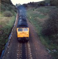 Working hard on the approach to Shilford from the north is a Carlisle bound G&SW route 47 hauled train.<br><br>[Ewan Crawford&nbsp;//1987]