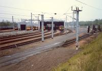 Corkerhill Depot looking east. These days flanked to the right by the M77.<br><br>[Ewan Crawford&nbsp;//1987]