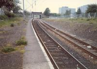 Corkerhill station before re-opening looking west.<br><br>[Ewan Crawford&nbsp;//1987]