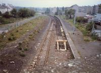 Corkerhill looking east to the depot before reopening to passengers.<br><br>[Ewan Crawford&nbsp;//1987]