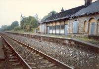 Crookston not long after single tracking and the station building was burned down.<br><br>[Ewan Crawford //1987]