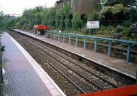 Blairhill station in 1987 looking west towards Glasgow.<br><br>[Ewan Crawford&nbsp;//1987]