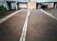 Finnieston/Exhibition Centre. The route to left leads to Finnieston East Junction. The route to the right leads to Finnieston West Junction.<br><br>[Ewan Crawford&nbsp;//1987]