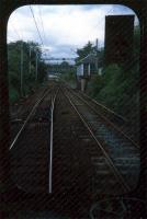 On the approach to Milngavie. The box has gone and the line is single now.<br><br>[Ewan Crawford&nbsp;//1987]