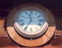 Station clock at Cardross. Caledonian Railway Co?<br><br>[Ewan Crawford&nbsp;//1987]
